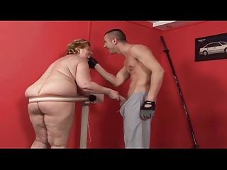 Fat granny fuck boy