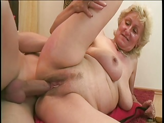Horny granny just craves cock