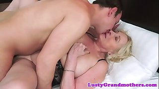 Beautiful grandma banged in..