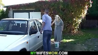 Son-in-law bangs her old..