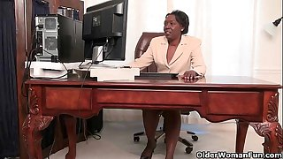 Office grannies Amanda and..