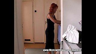 Mature Redhead Catching..