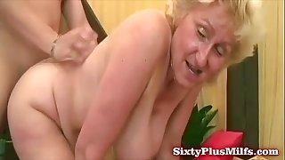 Fat grandma asks for more