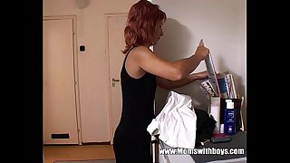 Redhead Horny Stepmom..