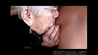 Granny Sucks Boys Cock for..
