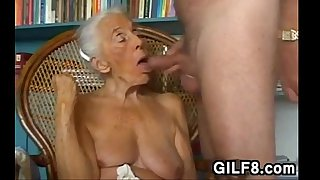 Naughty Grandma Giving A..