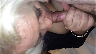 Amateur Grandma Blowjob