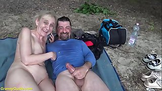 brutal outdoor sex for 85..