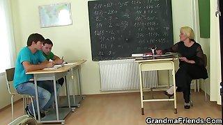Granny teacher double..