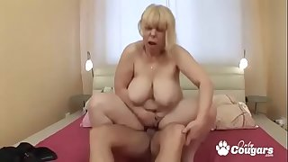 Fat Old Granny Makes A Dick..