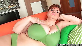 BBW granny gives her big..