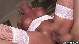 Old grandma fucked by her..