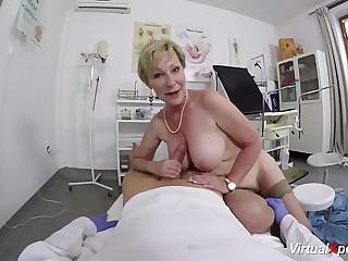 busty granny gets pov fucked..