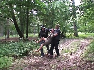Two bad guys ambushing a..