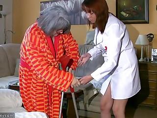 BBW chubby Nurse masturbate..