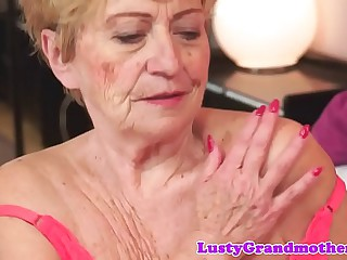 Chubby granny screwed after..