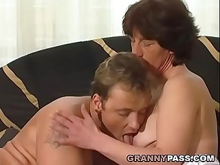 Hairy German Granny Gets..