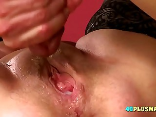 Granny Enjoys Huge Dick and..