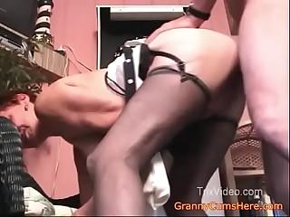 Granny Fucks her SON