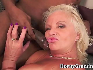 Deep throating granny