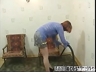 Russian granny fucking with..