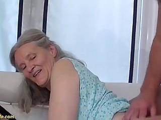 horny grandma loves rough..