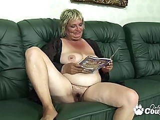 Dumpy mature blondie sucking..