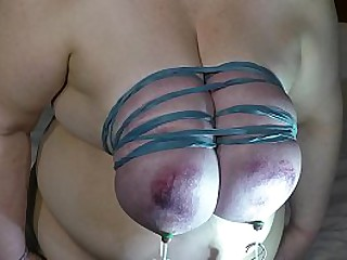 Granny tit torture by..