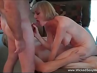 Horny Amateur Granny Does It..