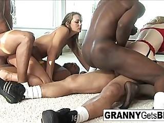 Hot granny gets both holes..