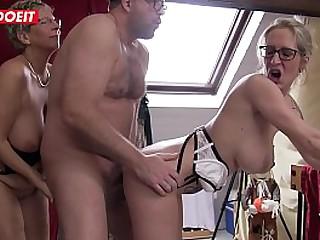 Blonde German Granny gets..