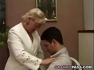 Granny fucks student. After..