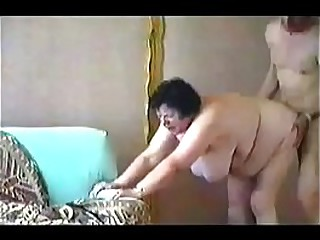 Horny granny paid for sex...
