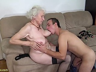 hairy 91 years old granny..