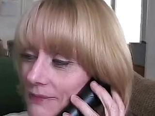 Blonde granny stepmom..