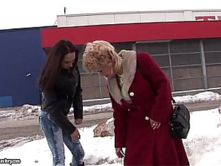 Busty Granny Effie Licking..