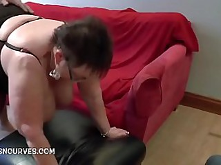 Busty granny fucked by..