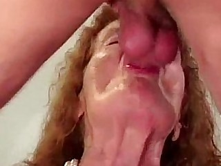 Granny loses her teeth while..