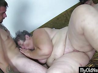 Fat Dirty Granny Dildo Fucks..