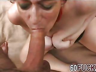 Horny redhead granny rubs..