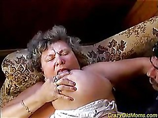 Busty granny is deeply drilled