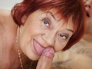 Granny enjoys her younger..