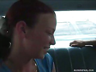 Redhead Sucks Cock For Ride..