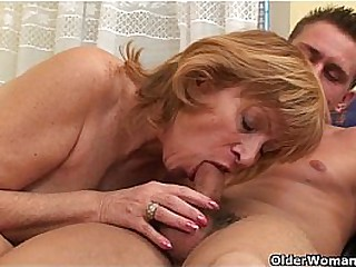 Granny gets her hairy pussy..