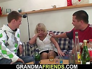 Very old blonde granny..