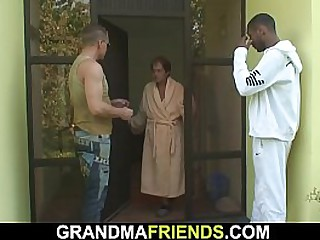 Interracial fuck by two..