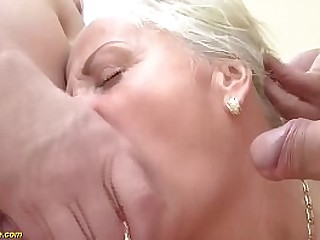 blonde granny gets b. double..