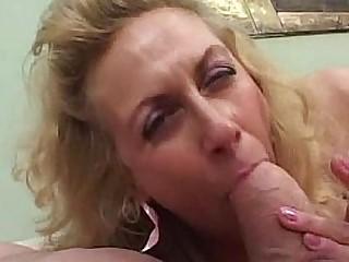 Granny smokes while sucking..