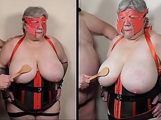 Ramping up granny tit t.