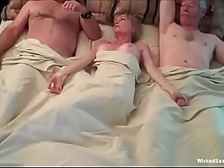 Hotel Threesome For Horny..